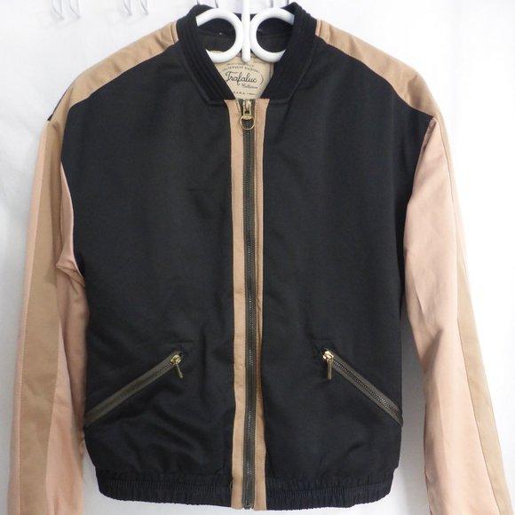ZARA, xs, jacket with design on back, BNWOT